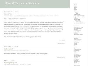 Classic theme WordPress
