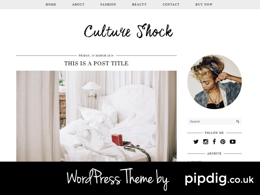 Culture Shock (pipdig) WordPress blog template