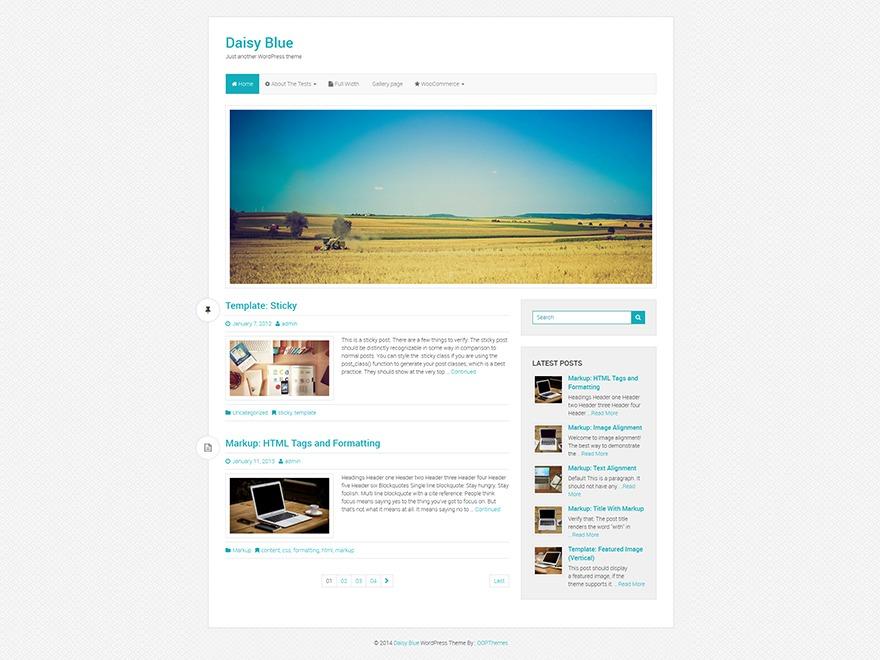 Daisy Blue WordPress theme