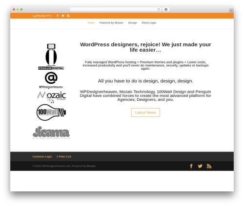 Divi template WordPress - wpdesignerheaven.net