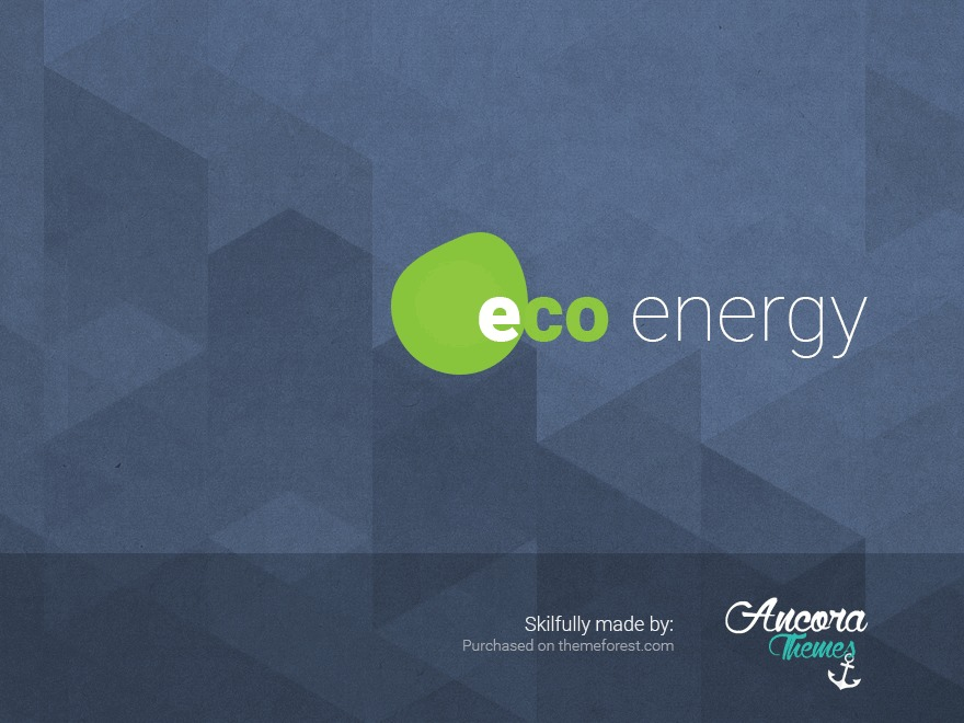 Ecoenergy WordPress page template