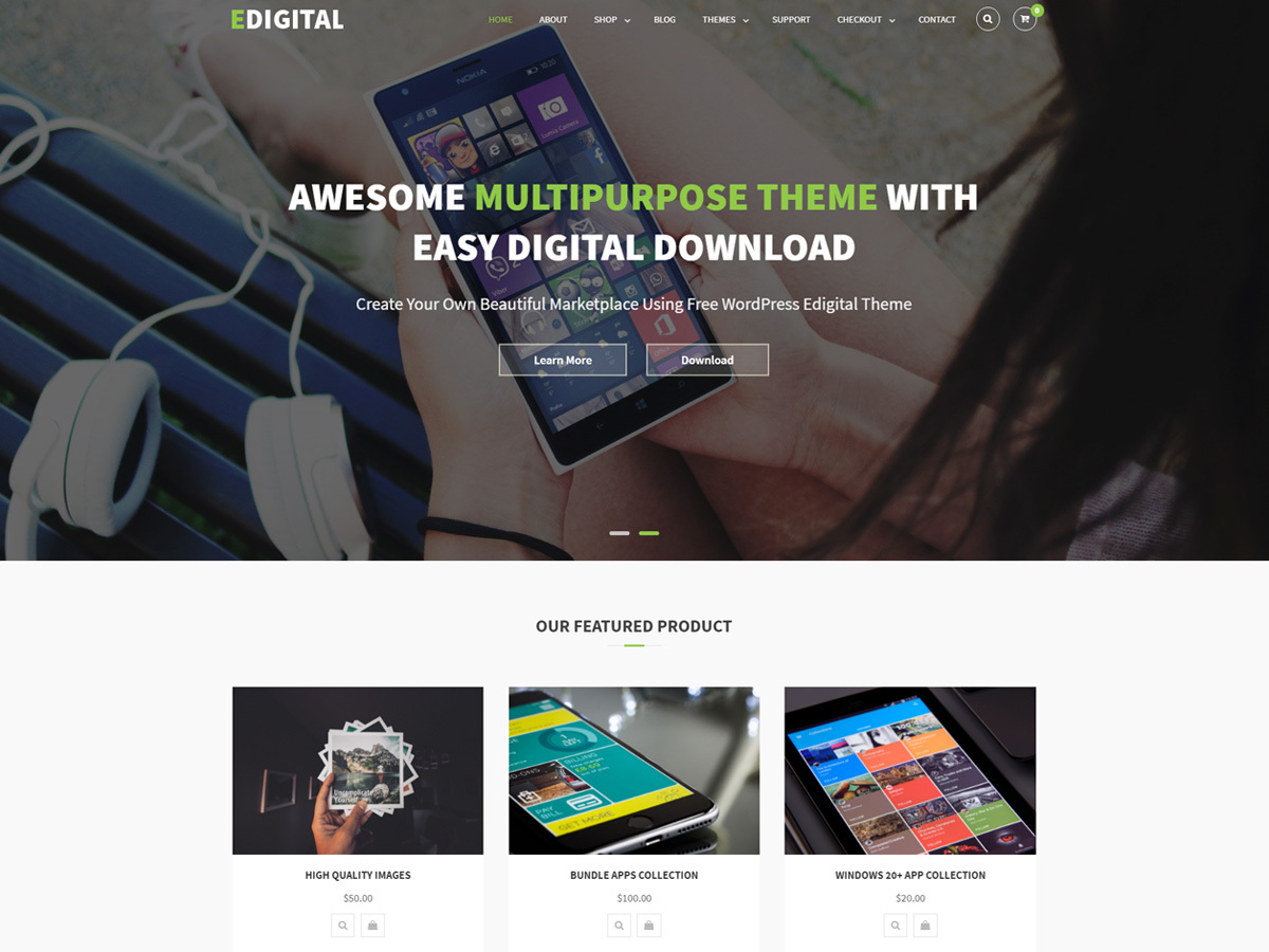 EDigital free WP theme