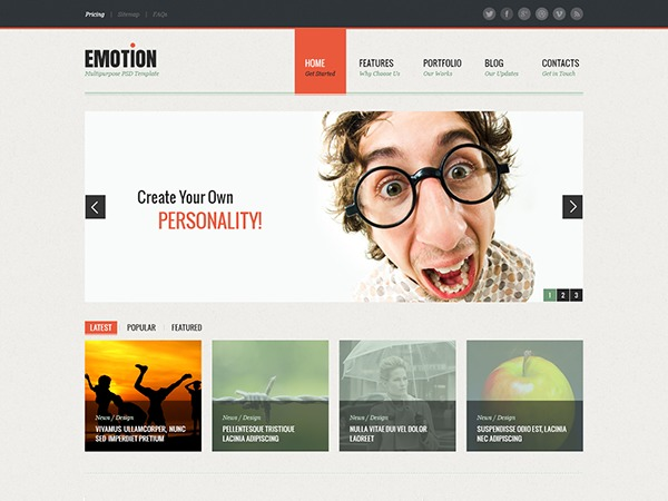 Emotion WP template
