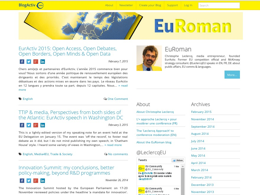 EurActiv Base WordPress blog template