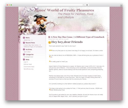 Floral Belle top WordPress theme - worldoffruitypleasures.com