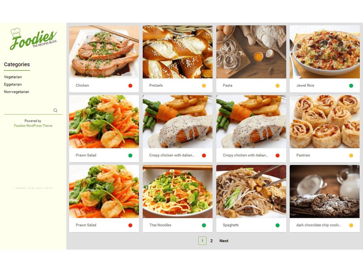 Foodies WordPress theme image