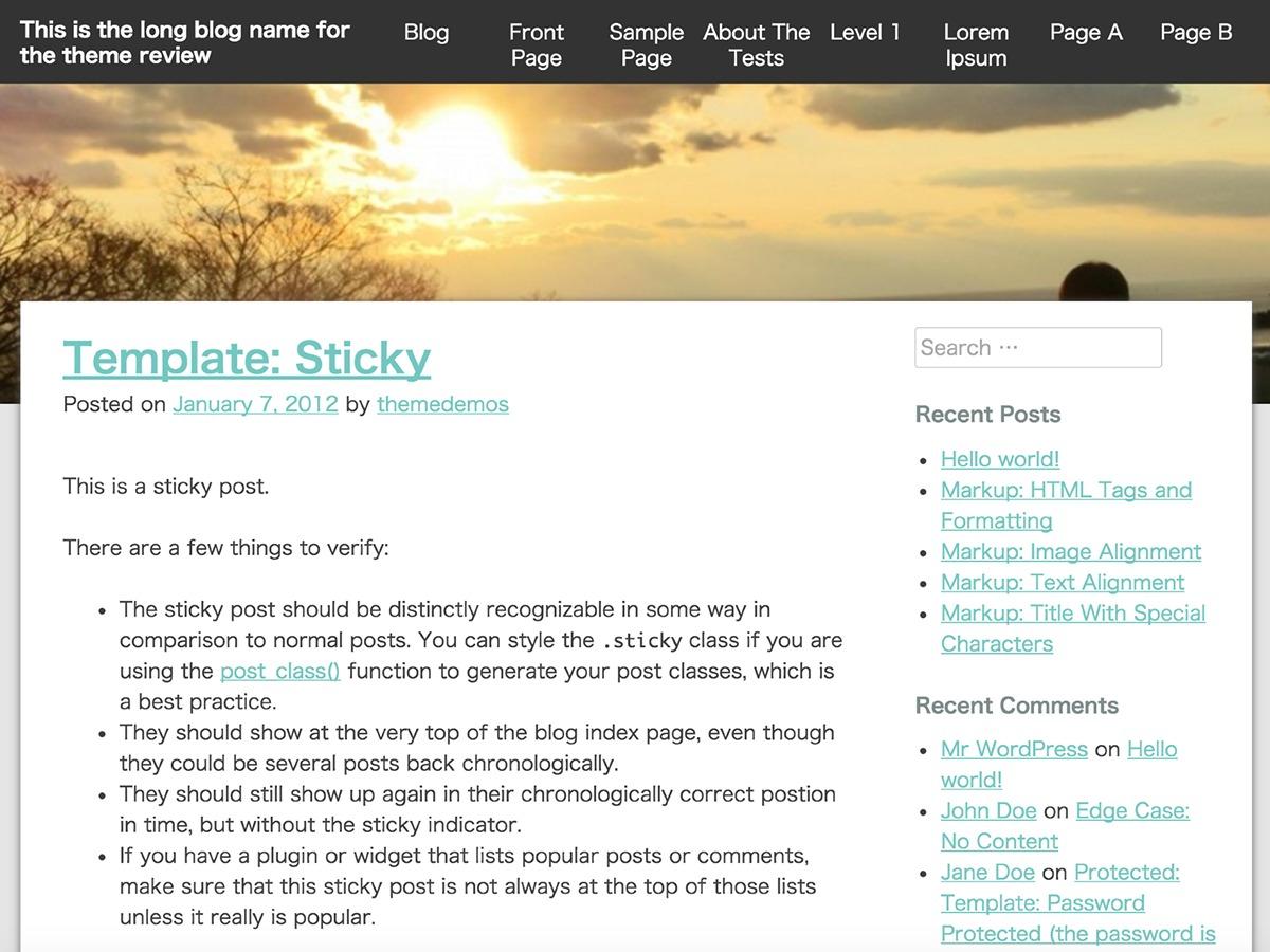 Ginkaku WordPress blog theme