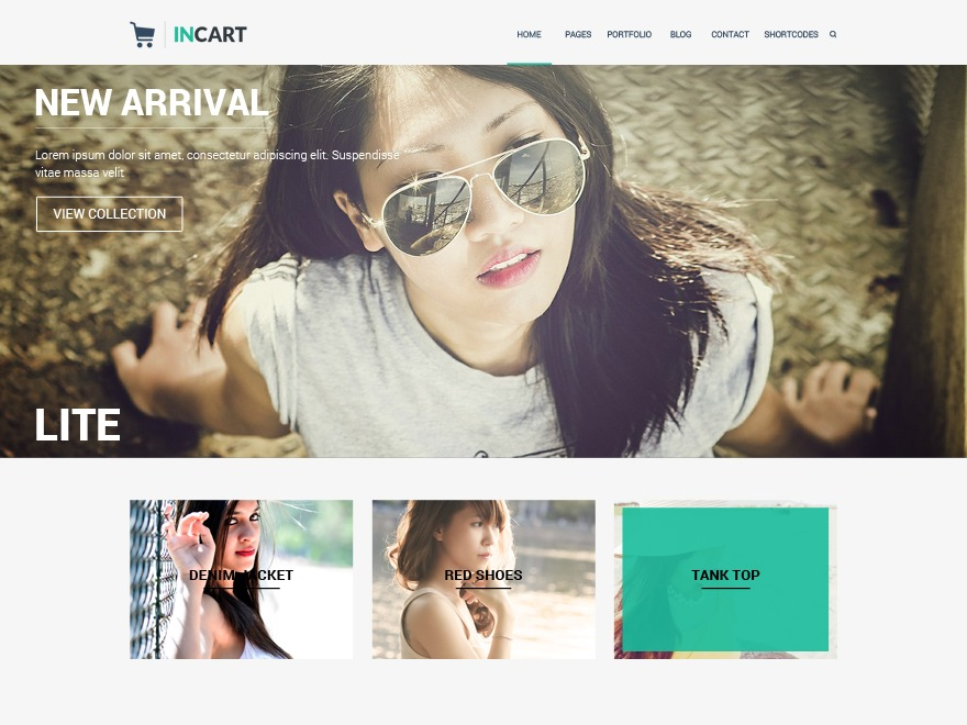 Incart Lite WordPress template free