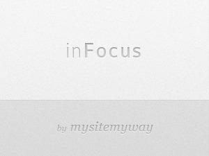 inFocus WordPress page template