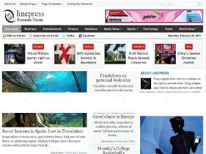 Linepress top WordPress theme