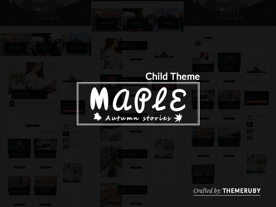 maple child best WordPress theme