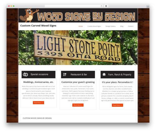 Minamaze best free WordPress theme - woodsignsbydesign.com