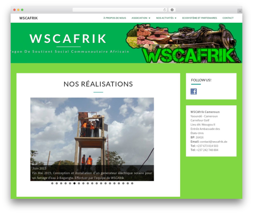 Nisarg theme WordPress - wscafrik.de