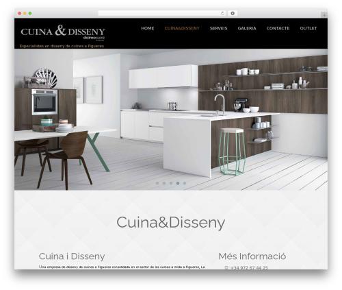 Onetone free WordPress theme - wordpress.cuinaidisseny.com