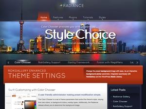 Radiance WordPress theme