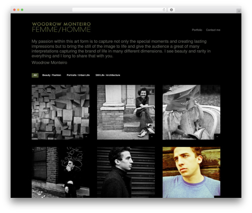 Shutter WordPress theme image - woodrowmonteiro.com