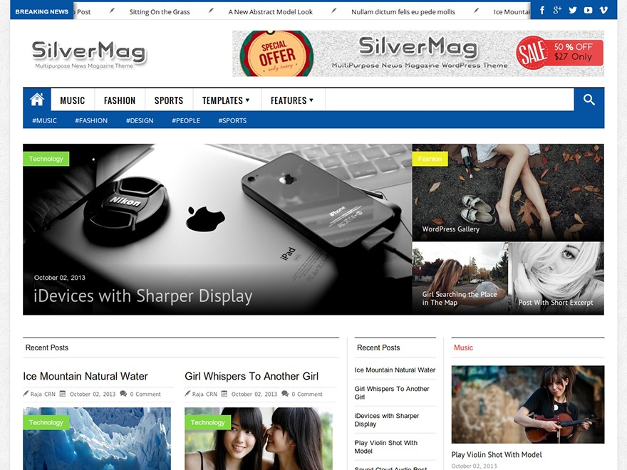 Silver Mag Pro best WordPress magazine theme
