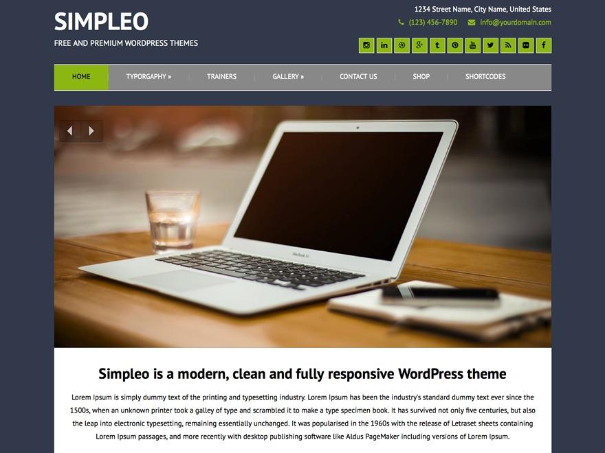Simpleo Child premium WordPress theme