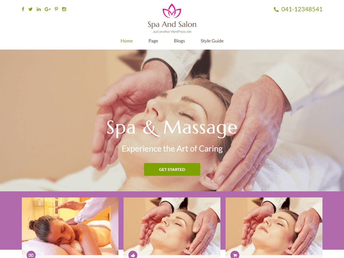 Spa and Salon medical WordPress theme