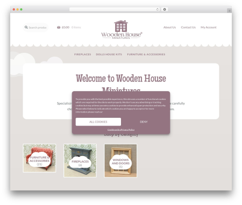 Storefront template WordPress - woodenhouseminiatures.co.uk