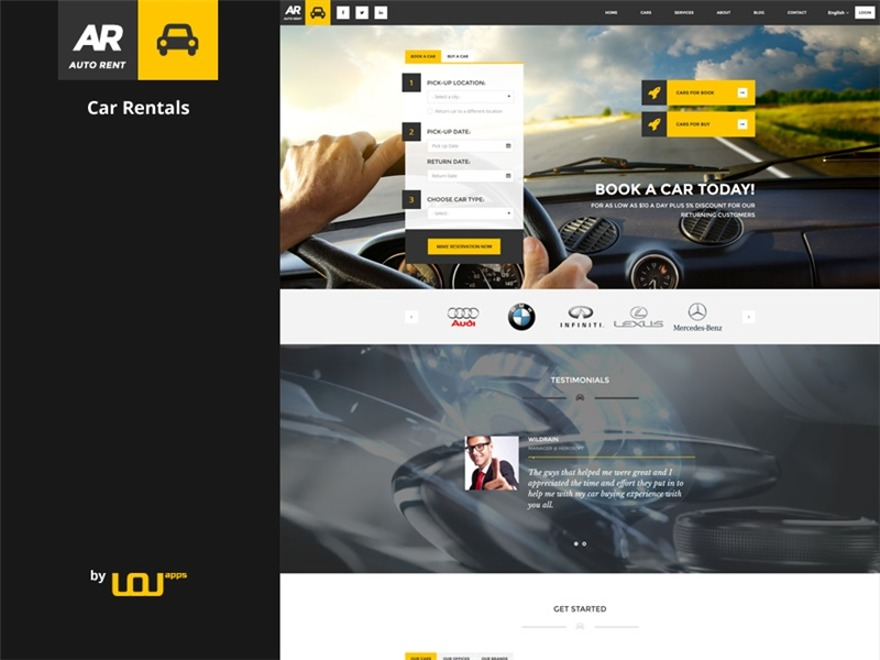 Template WordPress AutoRent