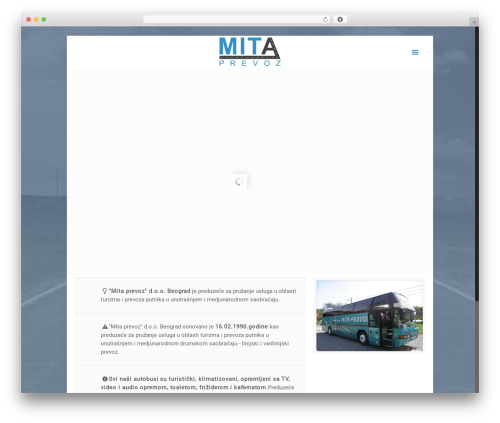 Template WordPress Betheme - mitaprevoz.com