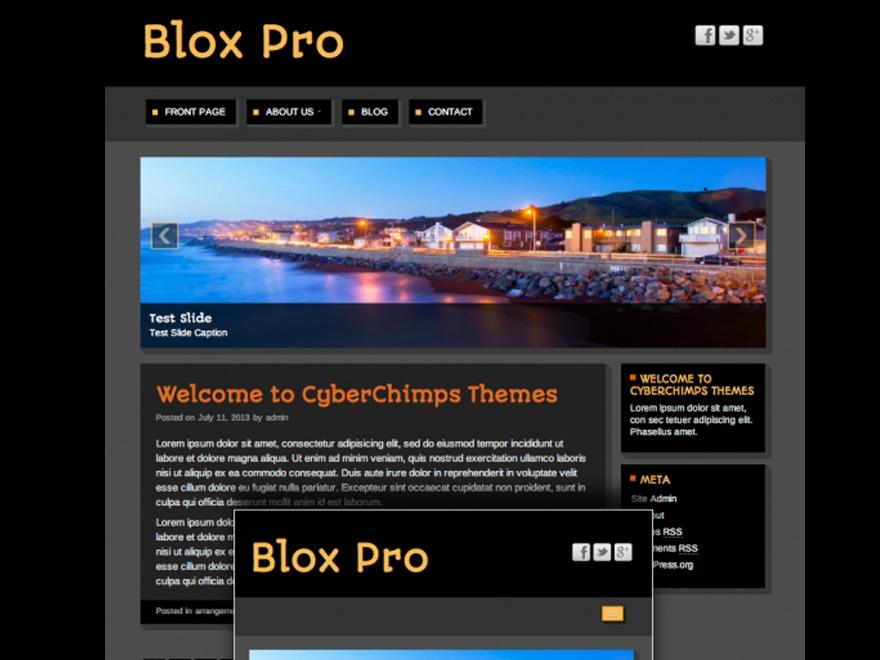 Theme WordPress Blox Pro