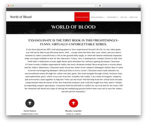 Theme WordPress Calypso - worldofblood.com