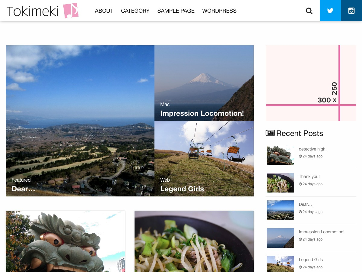 Tokimeki free WordPress theme