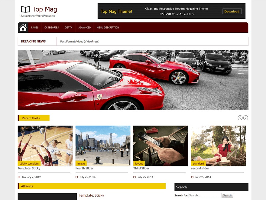 Top Mag theme free download