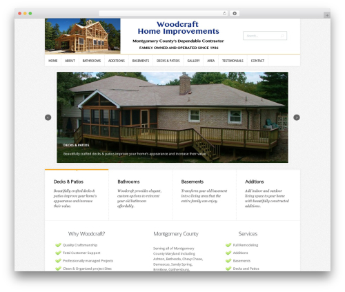 Trim WordPress template - woodcrafthomeimprovements.com