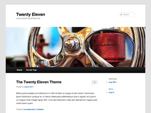 Twenty Eleven photography WordPress theme