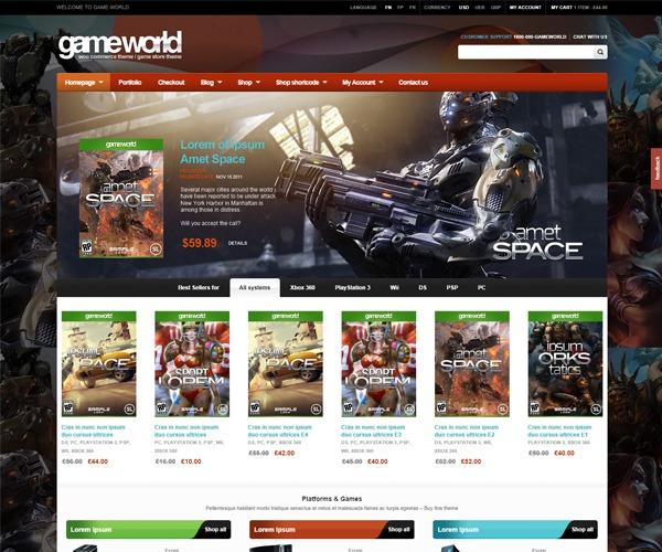 WD GameWorld WordPress gaming theme