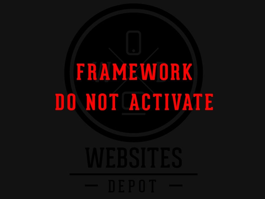 Websites Depot Framework WordPress page template