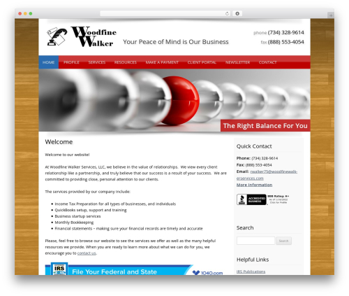 WordPress template Customized - woodfinewalkerservices.com