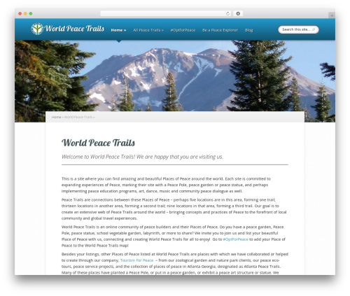 WordPress template Explorable - worldpeacetrails.com