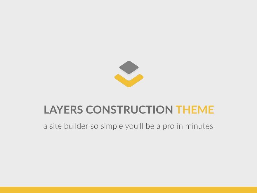 WordPress template Layers Child - Layers Construction Theme
