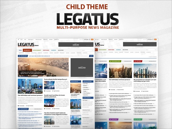 WordPress template Legatus Premium Child Theme