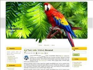 WordPress theme Amazon Parrot Theme