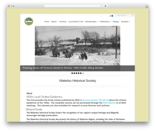 WordPress theme Chameleon - whs.ca