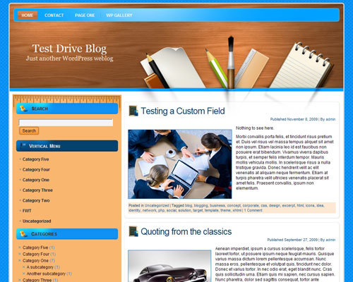 WordPress theme Design1