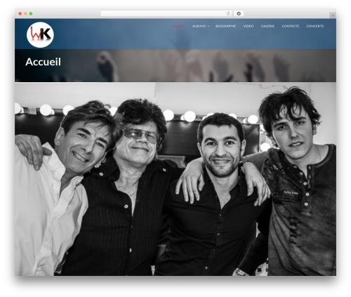 WordPress theme Music Club - william-klank.com