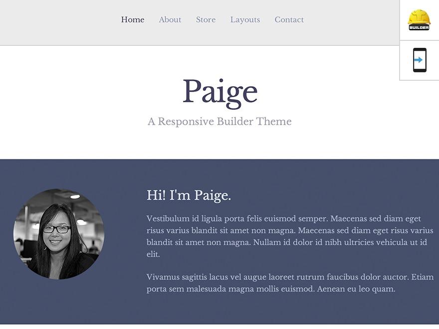 WP theme Paige