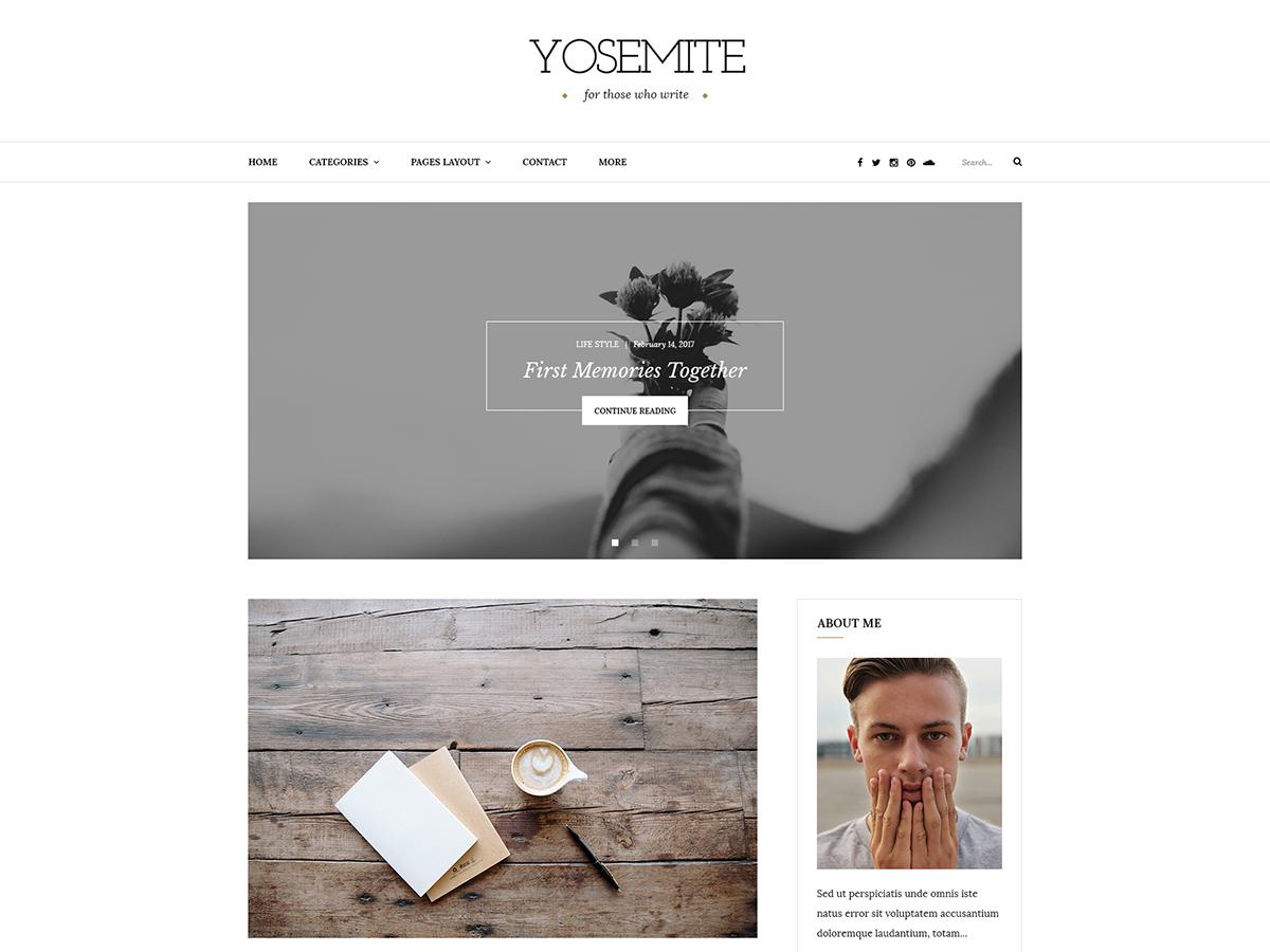Yosemite Lite WordPress free download