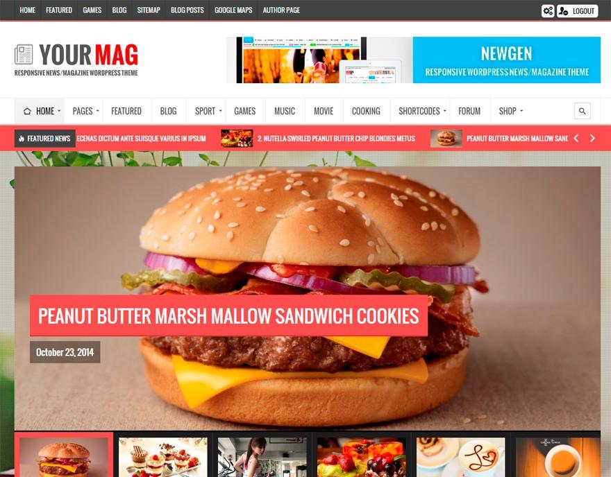 Yourmag newspaper WordPress theme