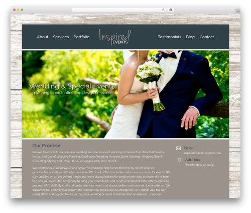 Divi WordPress website template - inspiredeventsllc.net