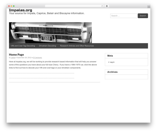 Gridiculous WordPress template free download - impalas.org