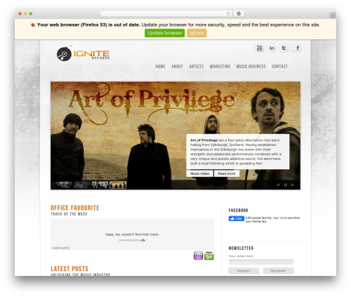 Prestige Ultimate Wordpress Theme WordPress website template - igniterecords.co.uk