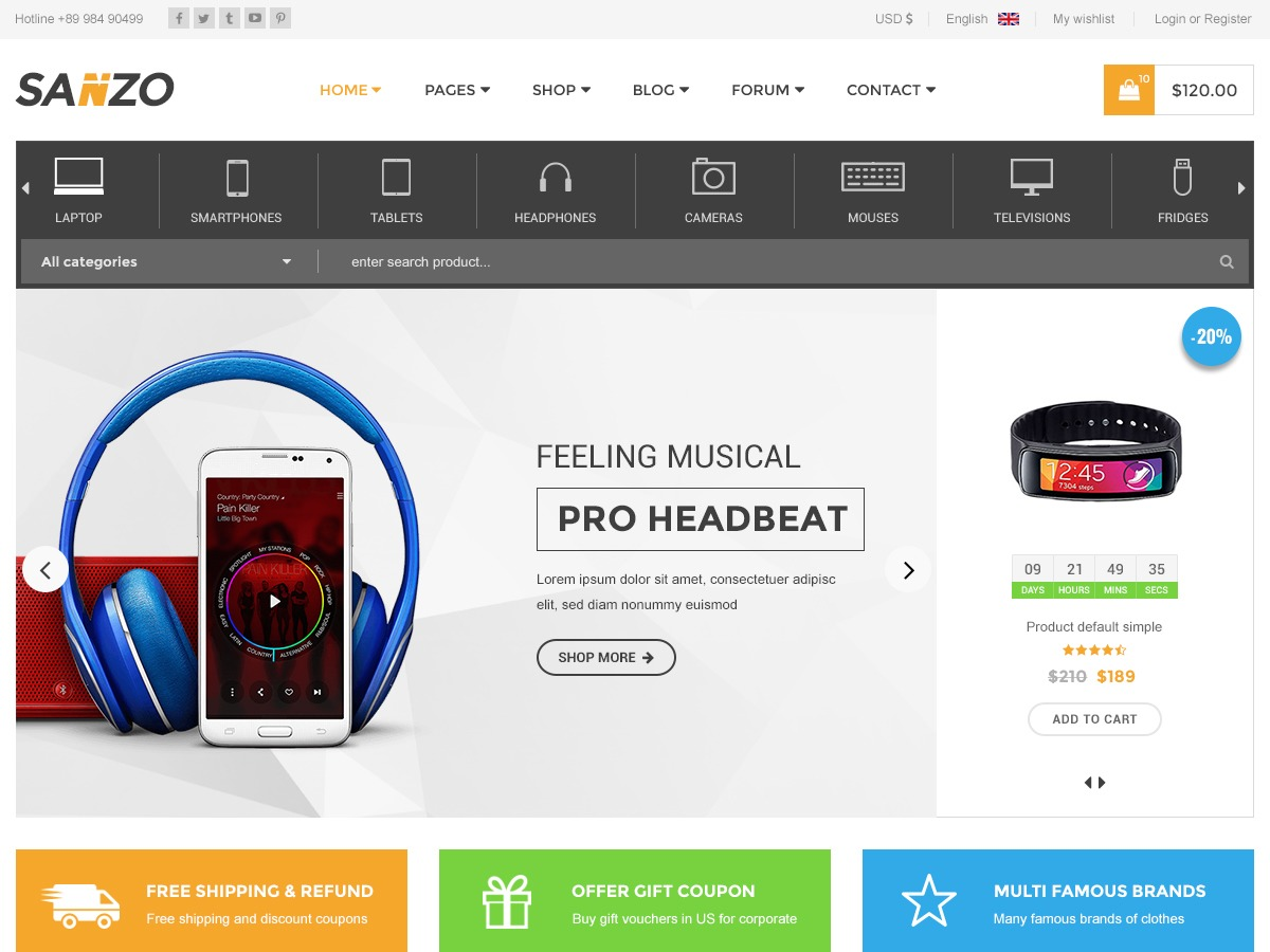 Sanzo WordPress ecommerce template
