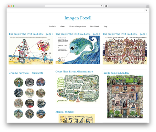SeaSun template WordPress free - imogenfoxell.com